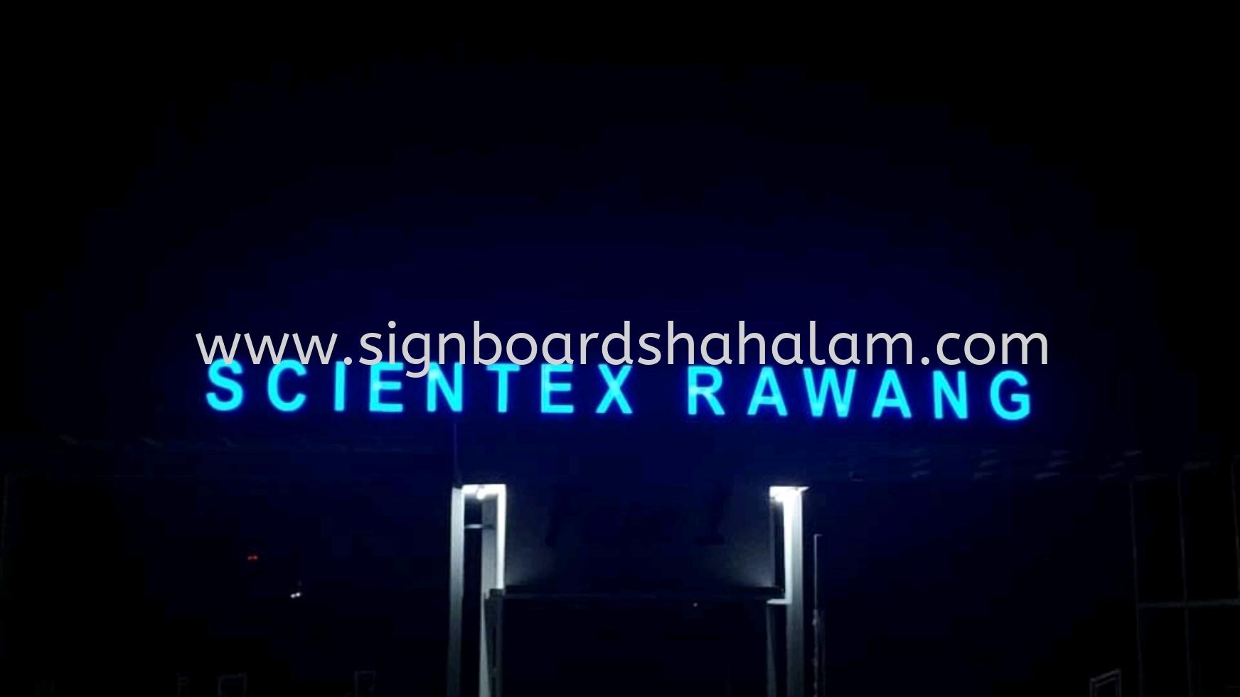 Signboard Scientex Rawang, Papan Iklan 3D Led