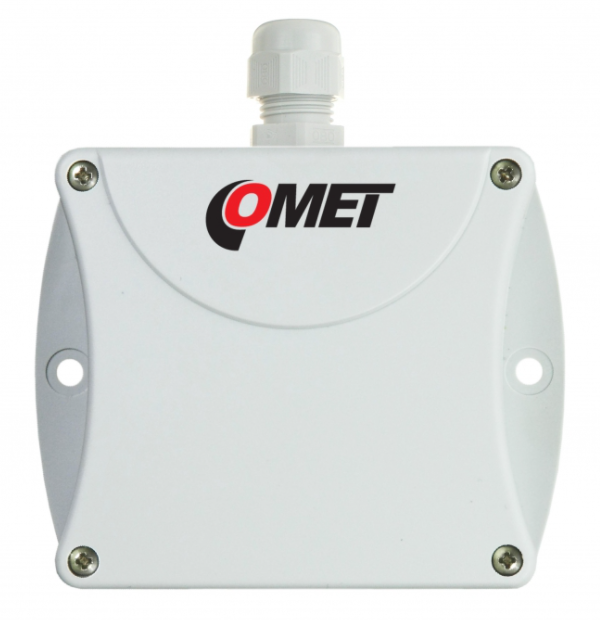 COMET P0212 Duct mount temperature transmitter with 0-10V output, stem length 120mm