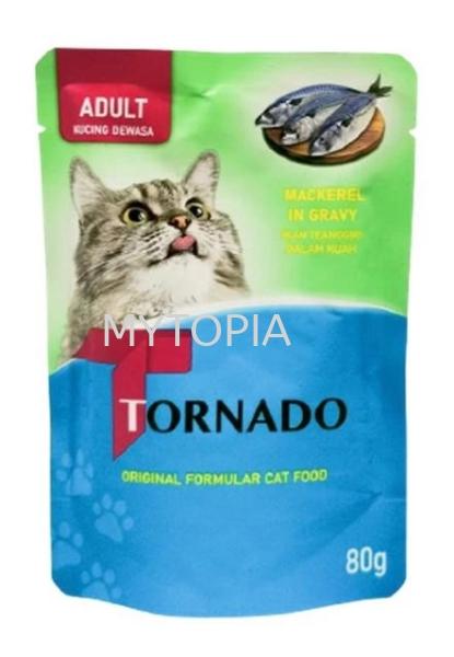 TORNADO CAT POUCH 80G -MACKEREL IN GRAVY TORNADO  CAT Perak, Malaysia, Ipoh, Batu Gajah Supplier, Suppliers, Supply, Supplies | Petscare Venture