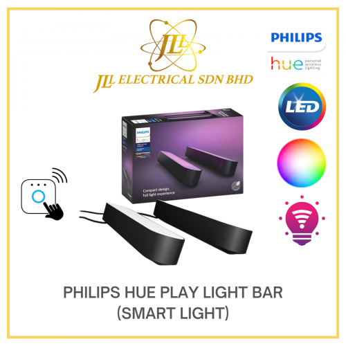 PHILIPS HUE PLAY LIGHT BAR DOUBLE PACK WHITE & COLOUR AMBIENCE (SMART LIGHT)