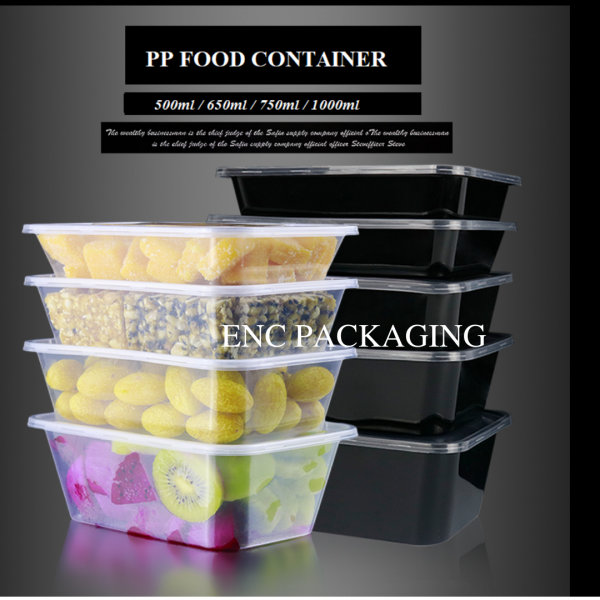 Black rectangle container Rectangle container Food container Penang (Pulau Pinang), Butterworth, Malaysia. Manufacturer, Supplier, Supply, Supplies   ENC Packaging Enterprise