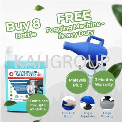 Purchase 8 of 5 Litre Instant Hygience @ FREE Fogging Machine Heavy Duty