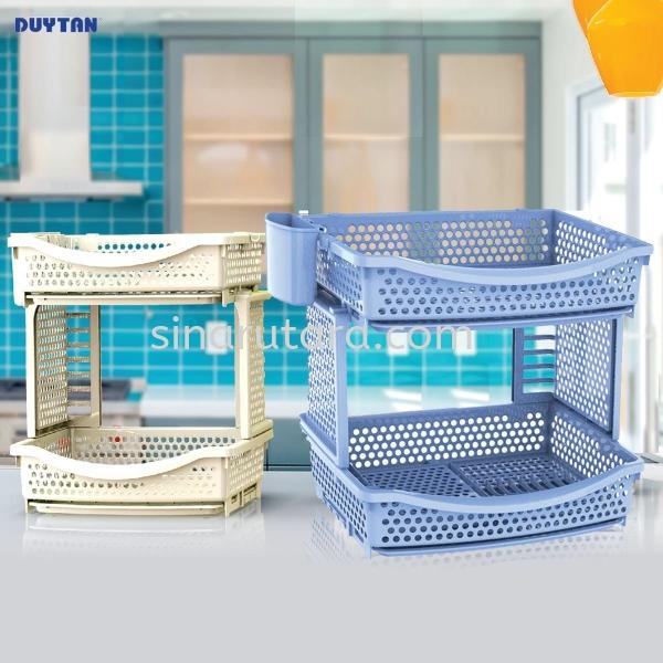 DT0796 2-Stages Big Shelf Shelf Duytan Plastic Duytan  Kedah, Malaysia, Lunas Supplier, Suppliers, Supply, Supplies | TH Sinar Utara Trading