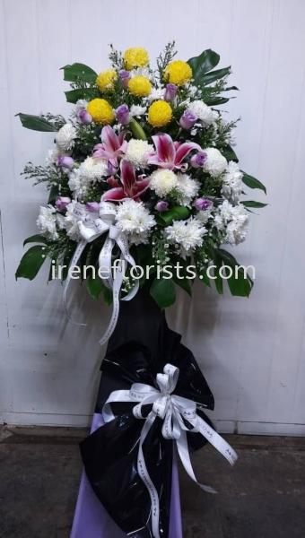 FW062 Funeral Wreath Taiping, Perak, Malaysia. Suppliers, Supplies, Supplier, Supply | Irene's Florists De Beaute