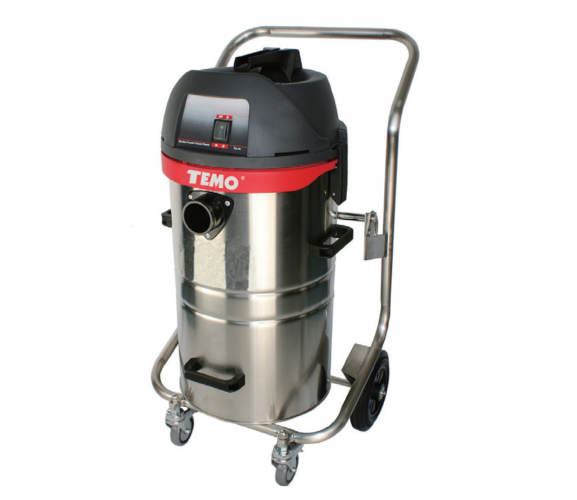 45L/1200W Professional Wet & Dry Vacuum Cleaner -Stainless Steel Container with Trolley Frame - UK Standard