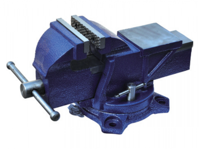 Heavy Duty Bench Vise with Swivel Bases