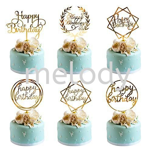 NEW Acrylic Cake Topper For Cupcake Birthday Party Decoration
