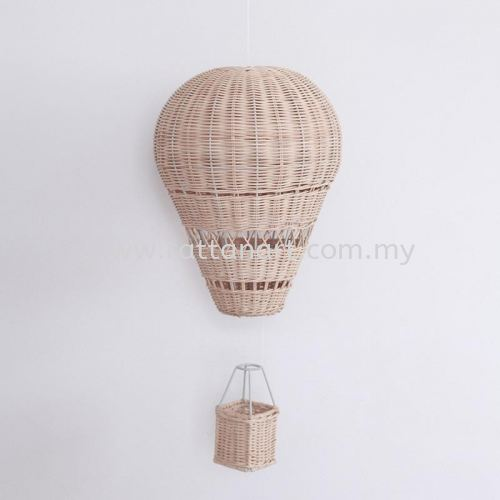 RATTAN HOT AIR BALLOON FOR BABY ROOM DECORATIVE