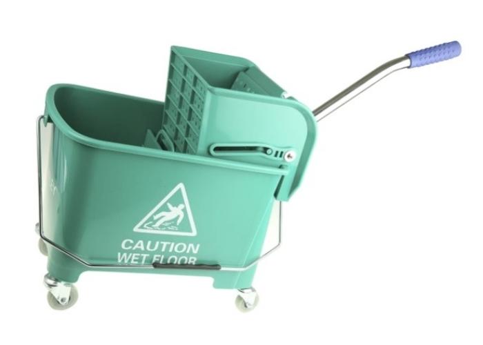 705-6261 - 20L Plastic Green Mop Bucket With Handle