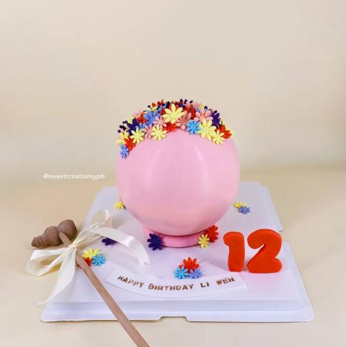 Pink Floral - Knock Knock Cake