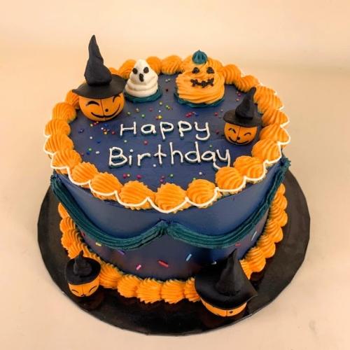 Halloween Pumpkin Midnight blue - Buttercream Cake