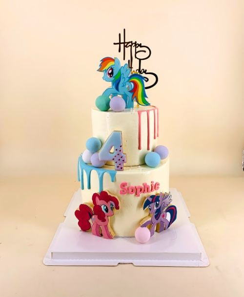 My Little Pony and Friends - Buttercream Cake - 2 tiers