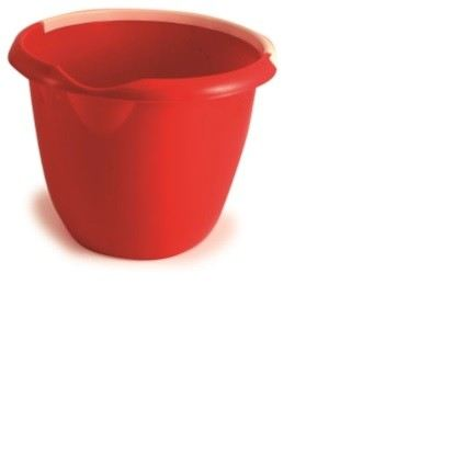 222-8509 - 10L Plastic Red Bucket With Handle