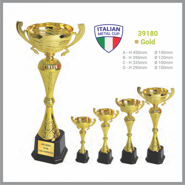 TROPHY 39180 Gold Metal Cup with Handle Assembled Trophy Kuala Lumpur (KL), Malaysia, Selangor, Kepong Supplier, Suppliers, Supply, Supplies | Pustaka Gemilang