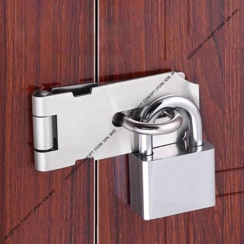 (白钢吊锁)PadLock Top Security Pad Lock Master Key Door Lock Mangga Pintu Kunci Pintu
