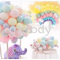10pcs or 20pcs (5 inch  / 10 inch) Latex Macaron Balloon Pastel Colors Solid Color