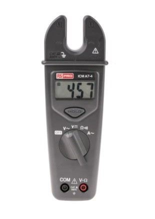 123-3233 - RS PRO ICMA7-4 AC Open Jaw Clamp Meter, Max Current 200A ac CAT III 600 V