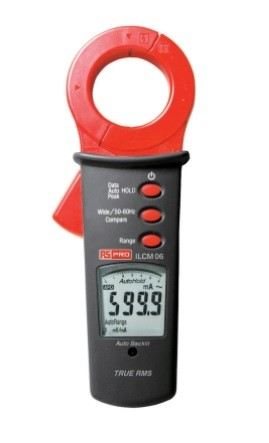 136-7823 - RS PRO ILCM06R Leakage Clamp Meter, Max Current 100A ac CAT III 300 V