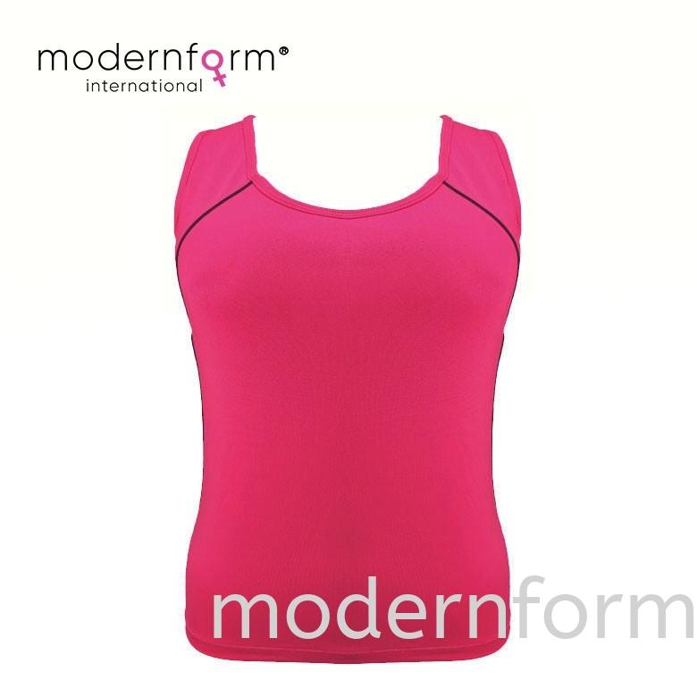 Modernform Women Camisole Sport Wear Yoga T Shirt with Cup (M460)