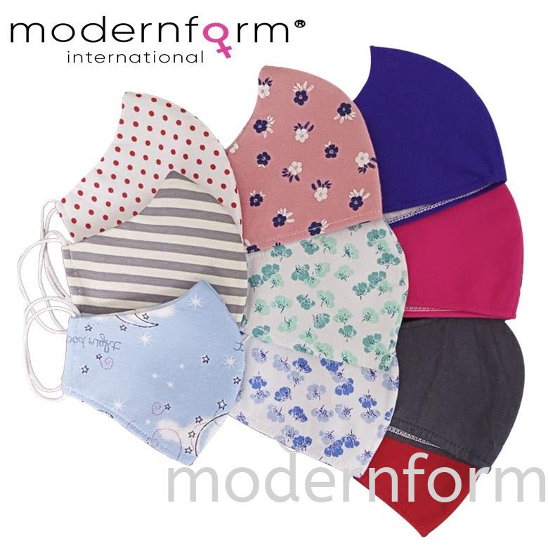 Modernform 3 Layers Hydrophobic Face Mask Assorted Colours, Pack of 2 (4253)
