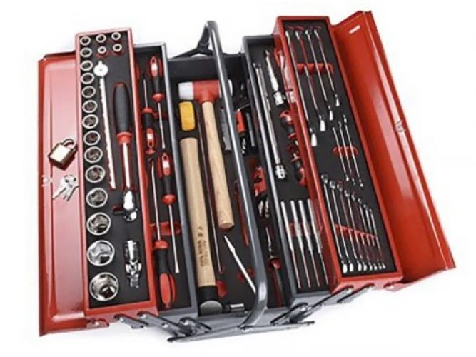 136-3412 - RS PRO 82 Piece Mechanical Tool Kit with Box