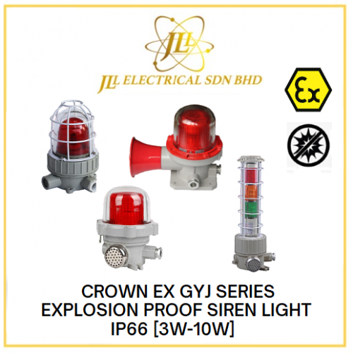 CROWN EX GYJ SERIES EXPLOSION PROOF SIREN LIGHT IP66 AC220V/ DC24V/ DC36V [3W-10W] [Red/Yellow/Blue/Green]