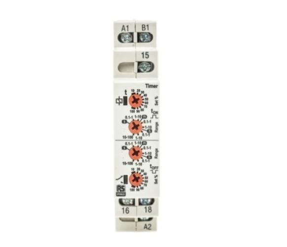 102-6127 - RS PRO SPDT Monitoring Relay, 12 → 230V ac/dc, DIN Rail Mount