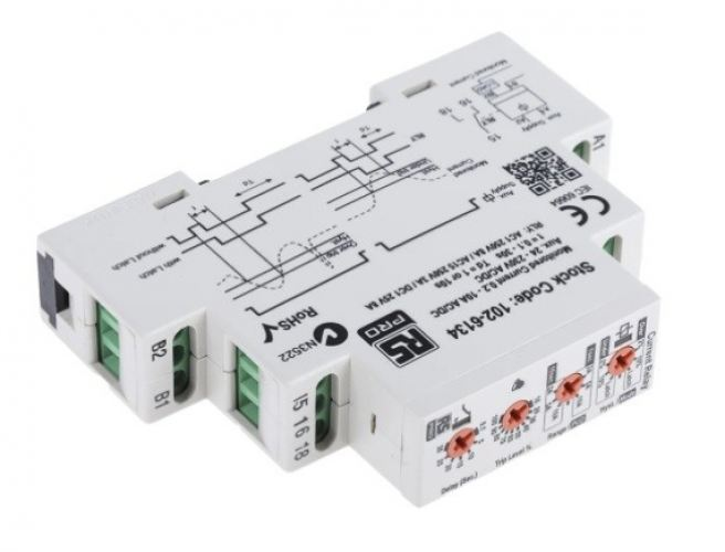 102-6134 - RS PRO Current Monitoring Relay With SPDT Contacts, 1 Phase
