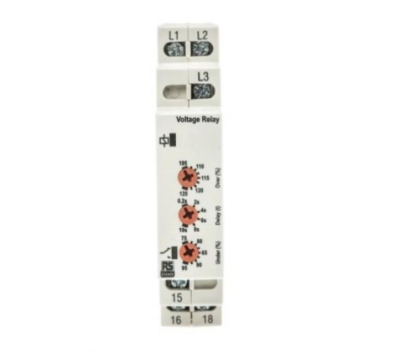 102-6137 - RS PRO Phase, Voltage Monitoring Relay With SPDT Contacts, 3 Phase, Overvoltage, Undervol