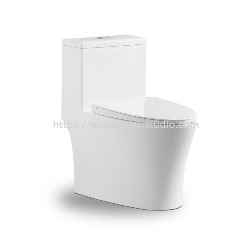 MODERN DEPOT GION WASHDOWN RIMLESS ONE PIECE WC SET C/W SOFT CLOSE SEAT COVER