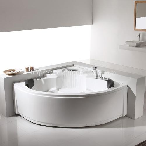 Modern Depot Treno Basic Corner Massage Bathtub