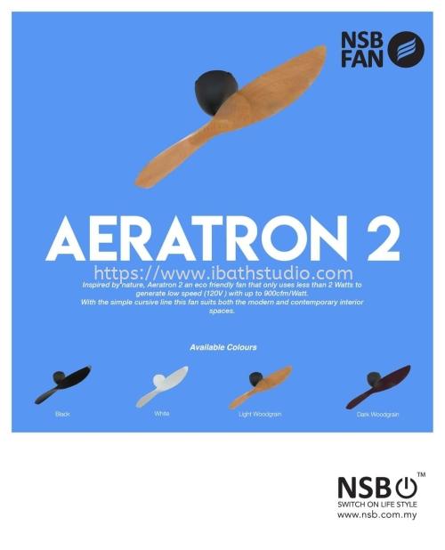 "NSB Aeratron AE2+ 50"" DC Motor 2 blade with remote designer fan"