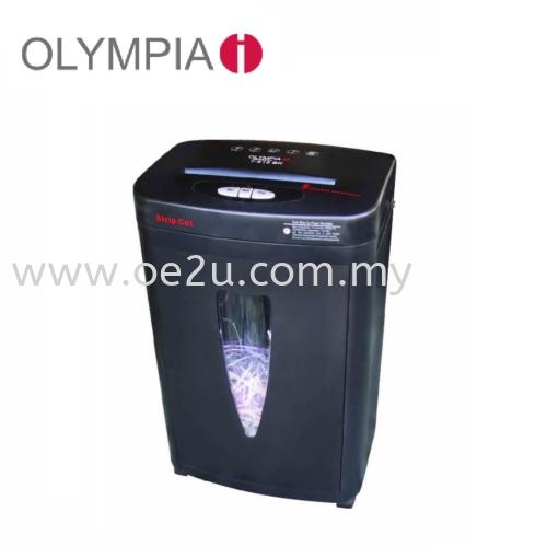 OLYMPIA T-818 BK Paper Shredder (Shred Capacity: 12 Sheets, Strip Cut: 3mm, Bin Capacity: 20 Liters)