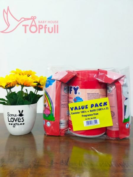Fiffy Baby Wipes Tissues canister 100's + Refill (100's*2) Fiffy Baby Wipe / Tissue Bathing / Cleaning Johor Bahru (JB), Malaysia, Skudai Supplier, Suppliers, Supply, Supplies | Top Full Baby House (M) Sdn Bhd