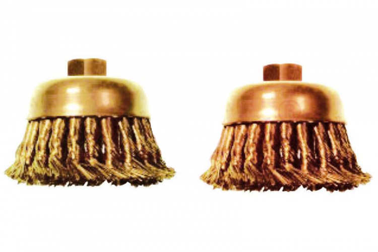 EXCELMANS 2901A Non-Spark Cup Brush, Knot Wire