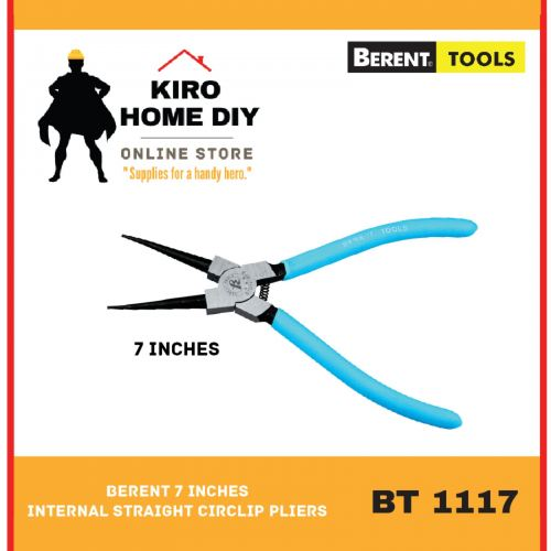 BERENT 7 Inches Internal Straight Circlip Pliers - BT1117