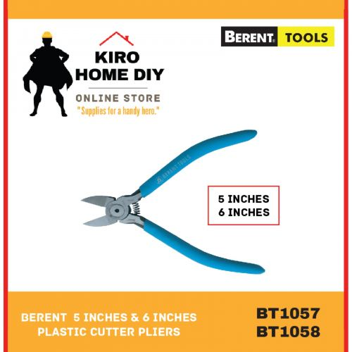 BERENT  5 Inches & 6 Inches Plastic Cutter Pliers - BT1057 & BT1058