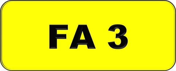 Number Plate FA3 Superb Classic Plate Johor Bahru (JB), Kuala Lumpur, KL, Malaysia. Service | AAA Premium Sdn Bhd