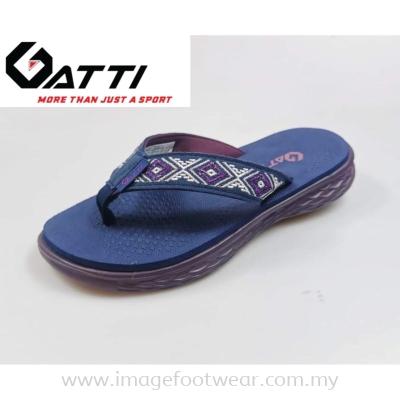 GATTI WOMEN LATEX SIM MAT SLIPPER GS-201261-26 NAVY/PURPLE Colour