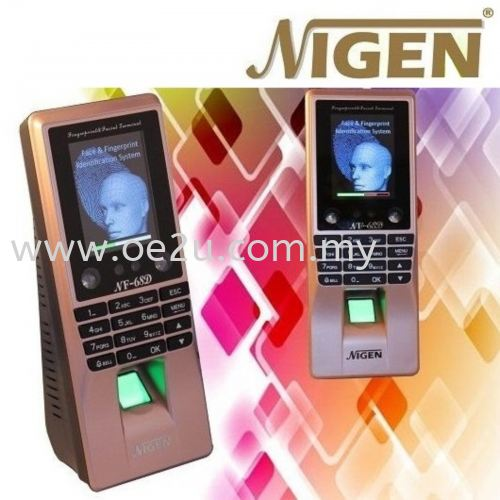 NIGEN NF-68D Face Recognition & Fingerprint Time Attendance & Door Access System (Software Reporting & WiFi Connection)