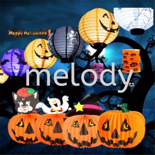 Halloween Pumpkin Lantern Mix Pattern- 20cm                         9