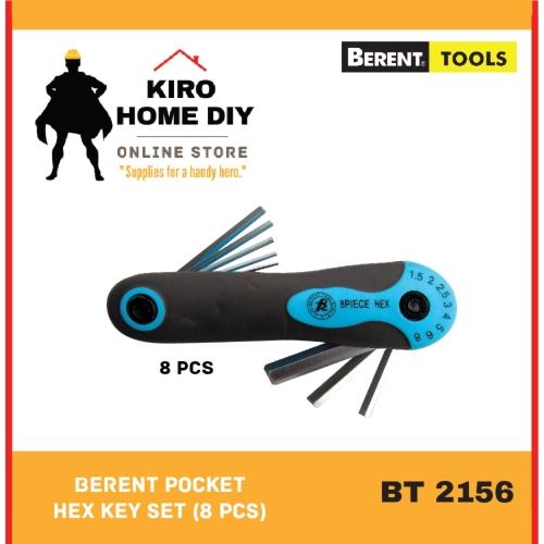 BERENT Pocket Hex Key (8 PCS)] - BT2156