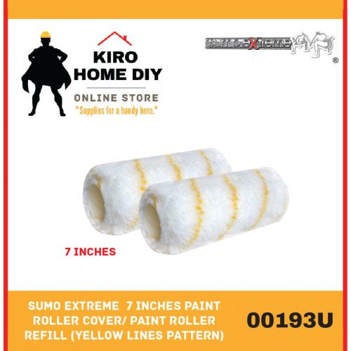 SUMO EXTREME  7 Inches Paint Roller Cover/ Paint Roller Refill (Yellow Lines pattern) - 00193U
