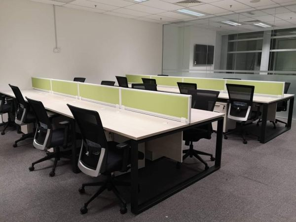 Multiple office workstation with desking panel  Workstation furniture AIM Desking System Office Workstation Malaysia, Selangor, Kuala Lumpur (KL), Seri Kembangan Supplier, Suppliers, Supply, Supplies   Aimsure Sdn Bhd