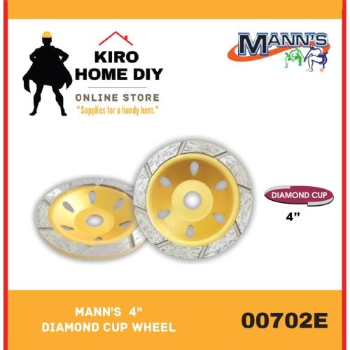 "MANN'S  4"" Diamond Cup Wheel - 00702E"