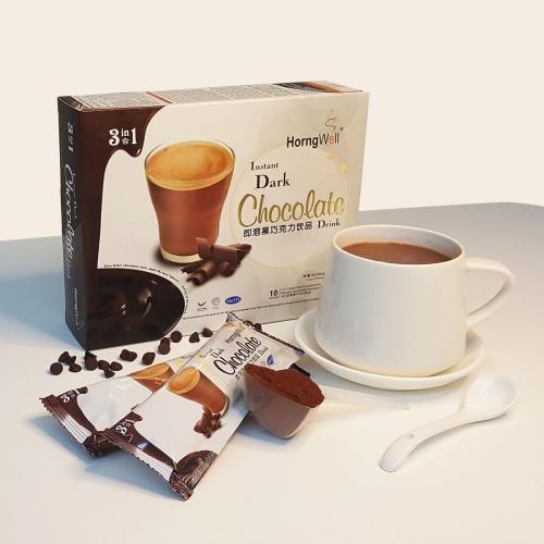 Dark Hot Malted Chocolate Drink