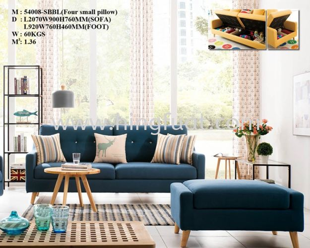 54008 3 seater sofa with storage