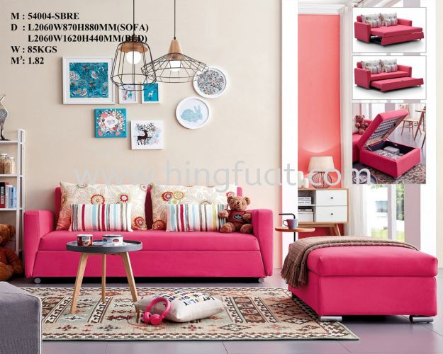 54004 3 seater sofa bed with storage