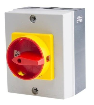 860-9535 - RS PRO 3 Pole Panel Mount Non Fused Isolator Switch - 40 A Maximum Current, 18.5 kW Power