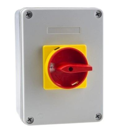 860-9539 - RS PRO 3 Pole Panel Mount Non Fused Isolator Switch - 40 A Maximum Current, 18.5 kW Power